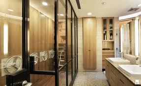 dressing room and bathroom space design interior design