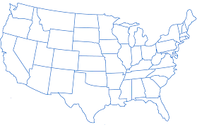 Map Of America And Cities by Blank Map Of America