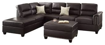 3 Piece Sectional Sofa With Chaise by 3 Piece Sectional Sofa Chaise Ottoman Set 2 Pillows