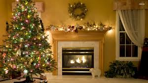 fireplace christmas tree christmas lights decoration