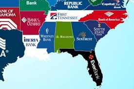 Bank Of America Maps by This Map Shows The Largest Bank In Every State Dwym