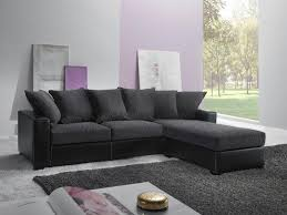 destockage canapé d angle canape d angle reversible kennett tweed noir et cuir