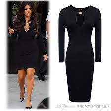 full sleeve women casual dress street style celebrity lady