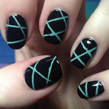 crossed lines nail art how to get straight lines nail art ideas