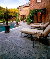 Herringbone Brick Patio Herringbone Brick Patio Pool Mediterranean With White Orange