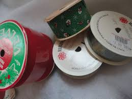 vintage lot of christmas ribbons velvette holiday ribbons