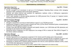 Military To Civilian Resume Sample by Free Military To Civilian Resume Examples 6 Sample Military To