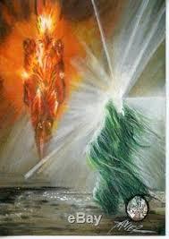 the hobbit botfa cryptozoic sauron u0026 galadriel artist return