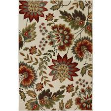 7 X 7 Area Rug Shop Mohawk Home Bloomfield Creme Brule Cream And Multicolor