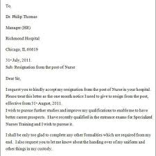 How To Write Resignation Notice Great Sample Resignation Letter Nurse U2013 Letter Format Writing