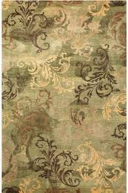 Green And Brown Area Rugs Symphony Iii Area Rug 2 6 X4 6 Green Kitchen