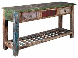 reclaimed wood entry table reclaimed wood sofa table costa home in distressed wood sofa table