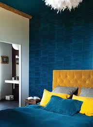 Two Tone Blue Bedroom Gold And Blue Bedroom Ideas Bedroom Traditional With Side Table