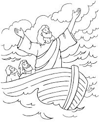 jesus calms storm coloring