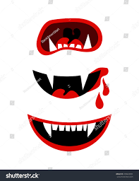 vampire mouth fangs vector halloween horror stock vector 478442851