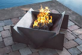 Large Firepits Large Gas Firepit The Stahl Firepit Ideal For Your Backyard Or