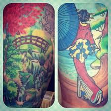 garden tattoos designs pocket watch flower garden bird tattoo by