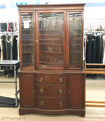 who buys china cabinets farmhouse china cabinet makeover with shiplap in the garage