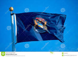 Michigan Flags State Flag Of Michigan Stock Image Image Of Midwest 23168283