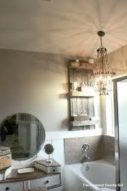 remodelaholic build an easy rustic bathroom shelf