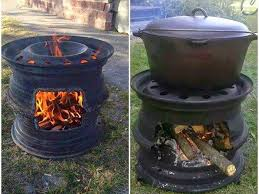 Make A Firepit How To Make A Pit Bbq Out Of Car Wheels Diy Cozy Home