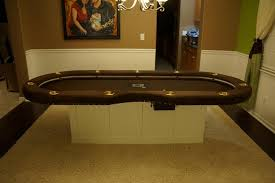 6 seat poker table matching set i made for my self chiptalk net poker chips and