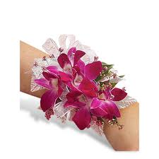 orchid corsage glamorous orchid corsage prom flowers homecoming flowers