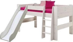 chambre enfant toboggan toboggan pour lit mi hauteur volo en bois pin massif