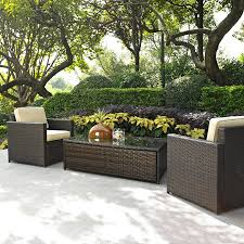 Crosley Furniture Outdoor Shop Crosley Furniture Palm Harbor 3 Piece Wicker Patio