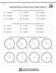 military time conversion 24 hour clock 3 activities