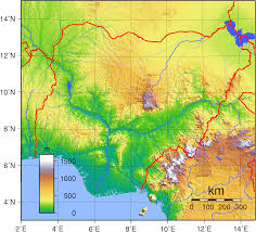 Arizona Elevation Map by File Nigeria Topography Png Wikimedia Commons