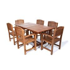 cedar dining room table shop all things cedar 7 piece natural teak patio dining set at
