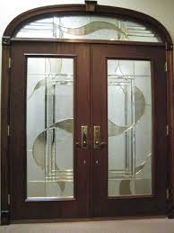 glass and wooden doors amazing double wooden entry doors with glass carving paneling