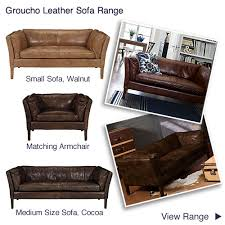 John Lewis Leather Sofas Compact Relaxed Leather Sofas Small Two Seater Brown Snuggler