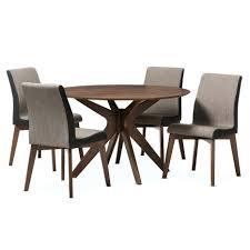 affordable dining room sets mesmerizing baxton studio kimberly mid century modern walnut wood