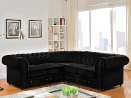 canapé d angle en velours canapé d angle en velours chesterfield noir
