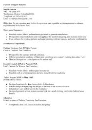 Fashion Designer Resume Templates Free Essay Referencing Examples Essay For College Admission Example