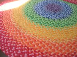 Round Woven Rugs Rugs Braided Rainbow Rug With Round Design