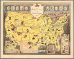 Pictures Of The United States Map by Vintage Literary Map Of The United States Florida Verve