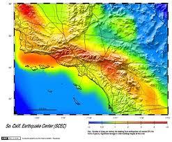 earthquake hazard map southern california earthquake data center at caltech