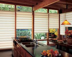 asian kitchen with traditional wooden window treatment cool
