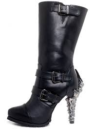 black biker boots arma black biker boots with claw heel gothic boots for women