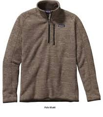 patagonia mens better sweater patagonia mens better sweater 1 4 zip pullover 25522 pale khaki