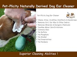 amazon com ear cleaner for dogs compliments the treatment of