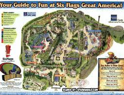Great America Six Flags Rides Sfgamworld Com Park Maps