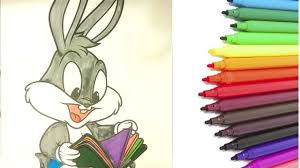 coloring page of bugs bunny baby coloring book pages for kids fun