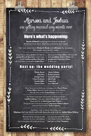 one page wedding programs chalkboard archives page 2 of 2 smitten on paper