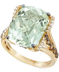 green amethyst engagement ring le vian green amethyst 9 3 4 ct t w white diamond 1 8 ct