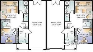 house plans with basement garage multi family plan w3054 detail from drummondhouseplans
