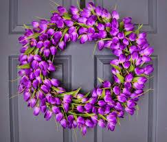 Tulip Wreath Wreaths By Homehearthgarden Etsy Com Captivating Royal Purple